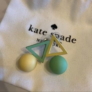 Kate spade art ball triangle earring nwot